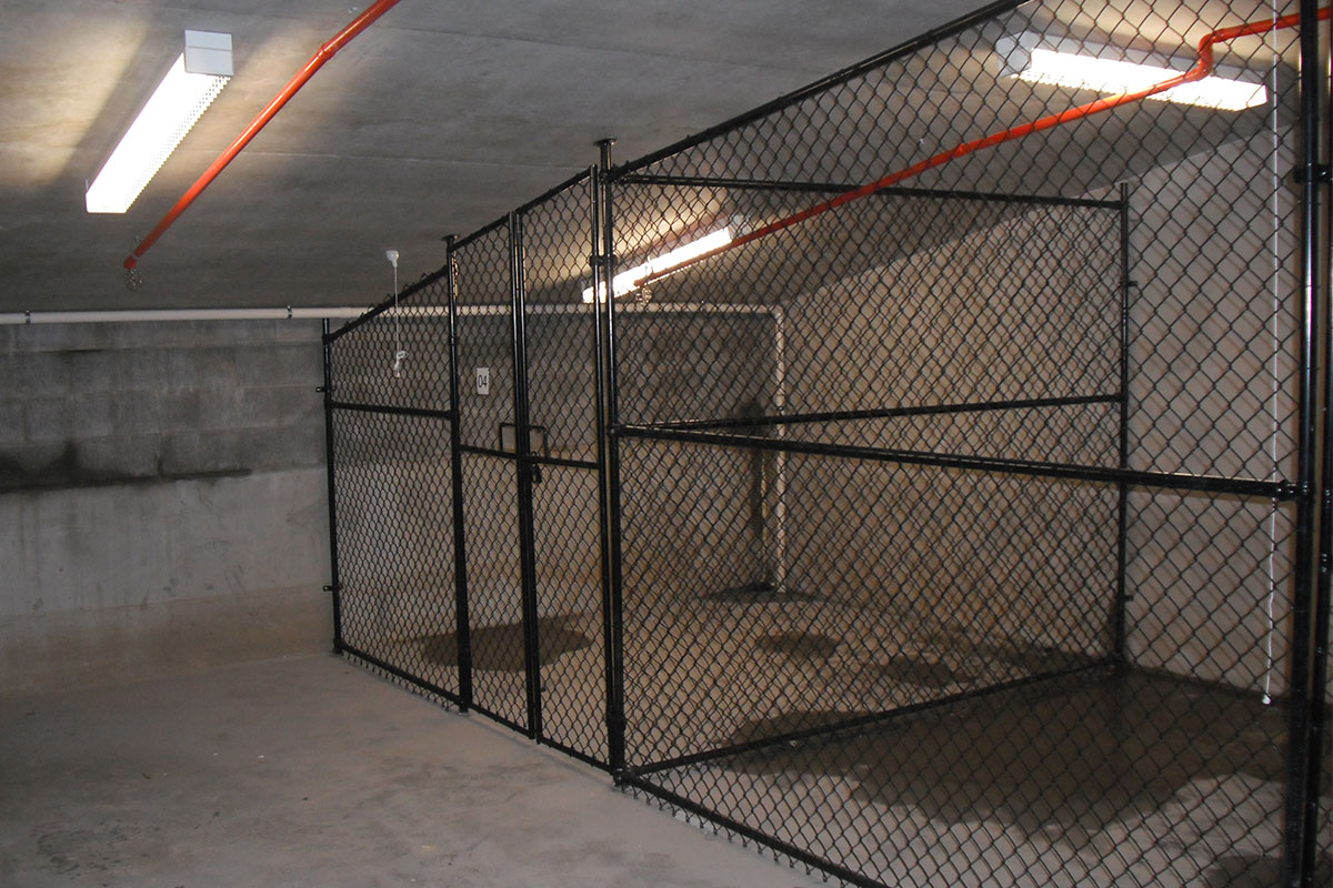 Storage cages that we've installed on the Gold Coast